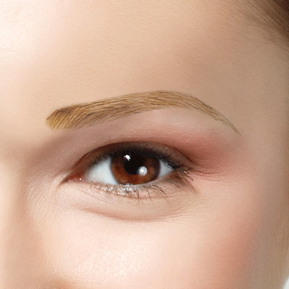 Dimples Human Hair Eyebrows Natural Arch (Style 22) shown In colour Medium Brown