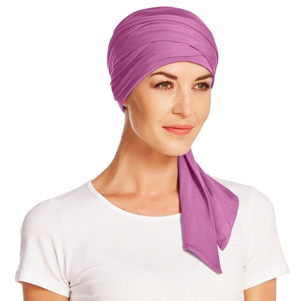 Christine Headwear Bamboo Mantra Long Scarf In Fuchsia