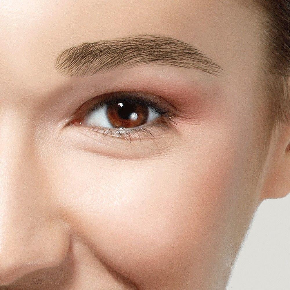 Human Hair False Eyebrows Natural Look Dimples
