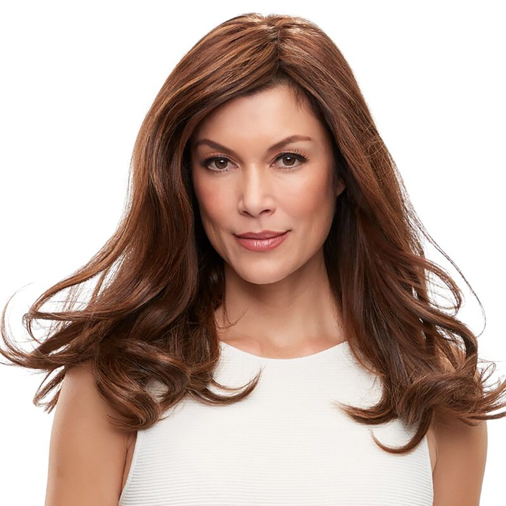 "Top Form French 18"" Exclusive Human Hair Enhancer Jon Renau in Toffee Truffle"