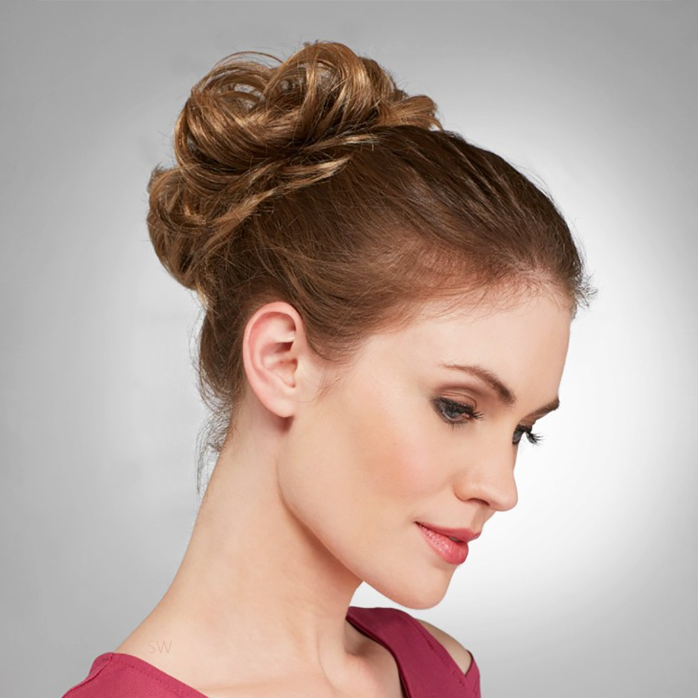 Updo Creator Piece Hot Hair shown In colour Harvest Gold