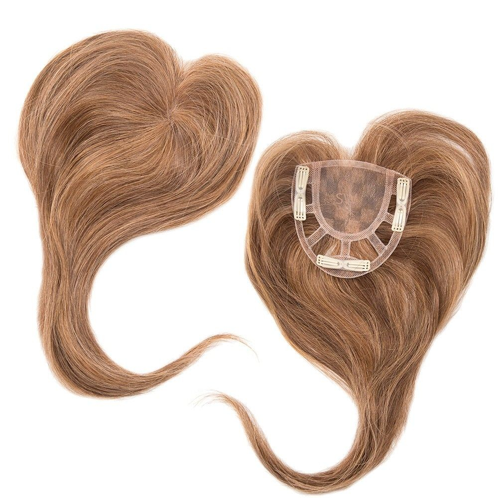 Add on Crown Human Hair Natural Collection shown In colour Dark Blonde