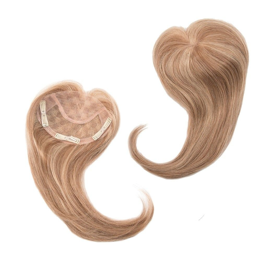 Add on Front Human Hair Natural Collection shown In colour Dark Blonde