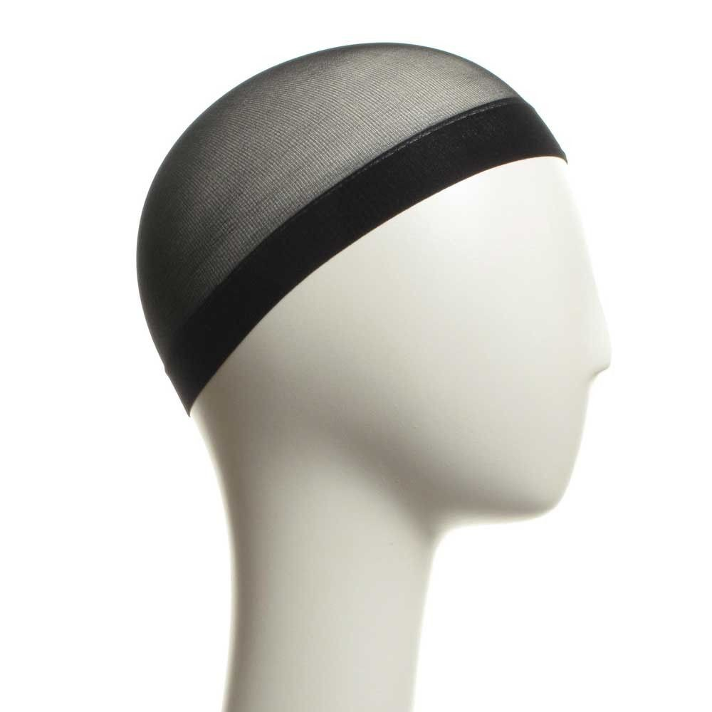 Black Comfy Elasticated Wig Cap