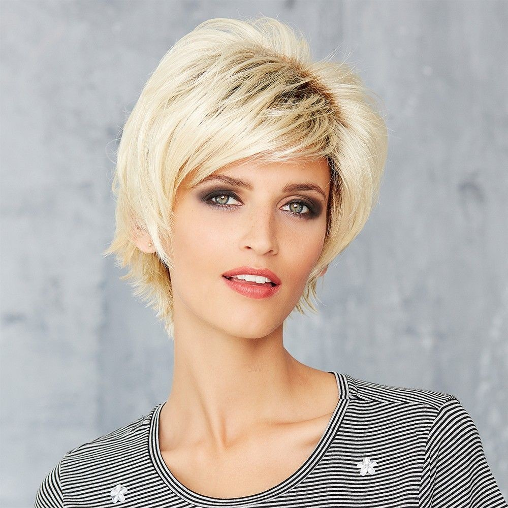 Cosmo Felice wig Gisela Mayer shown In colour Portland Frost Root