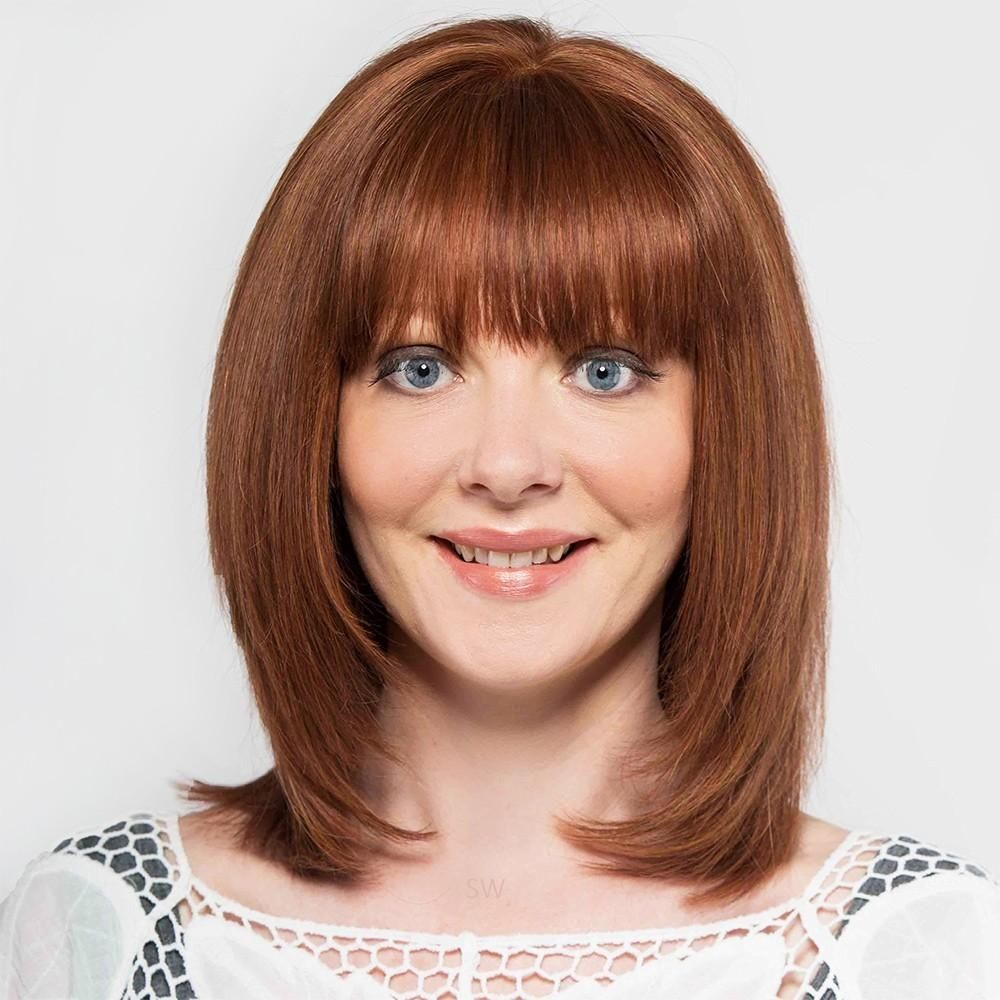 Jet wig Human Hair wig shown In colour Multi Tone Chestnut Red
