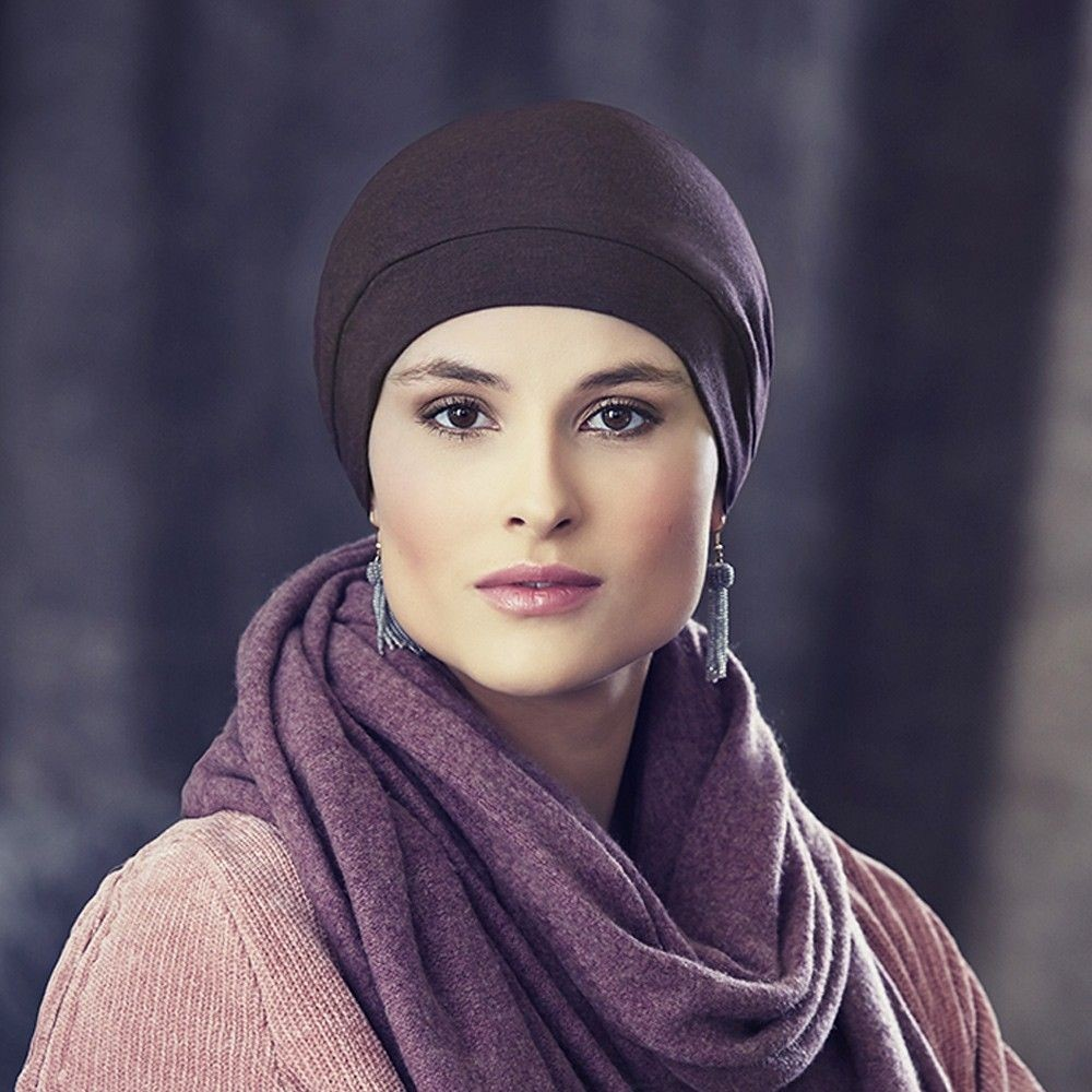 Liva V Winter Grey Turban Christine Headware