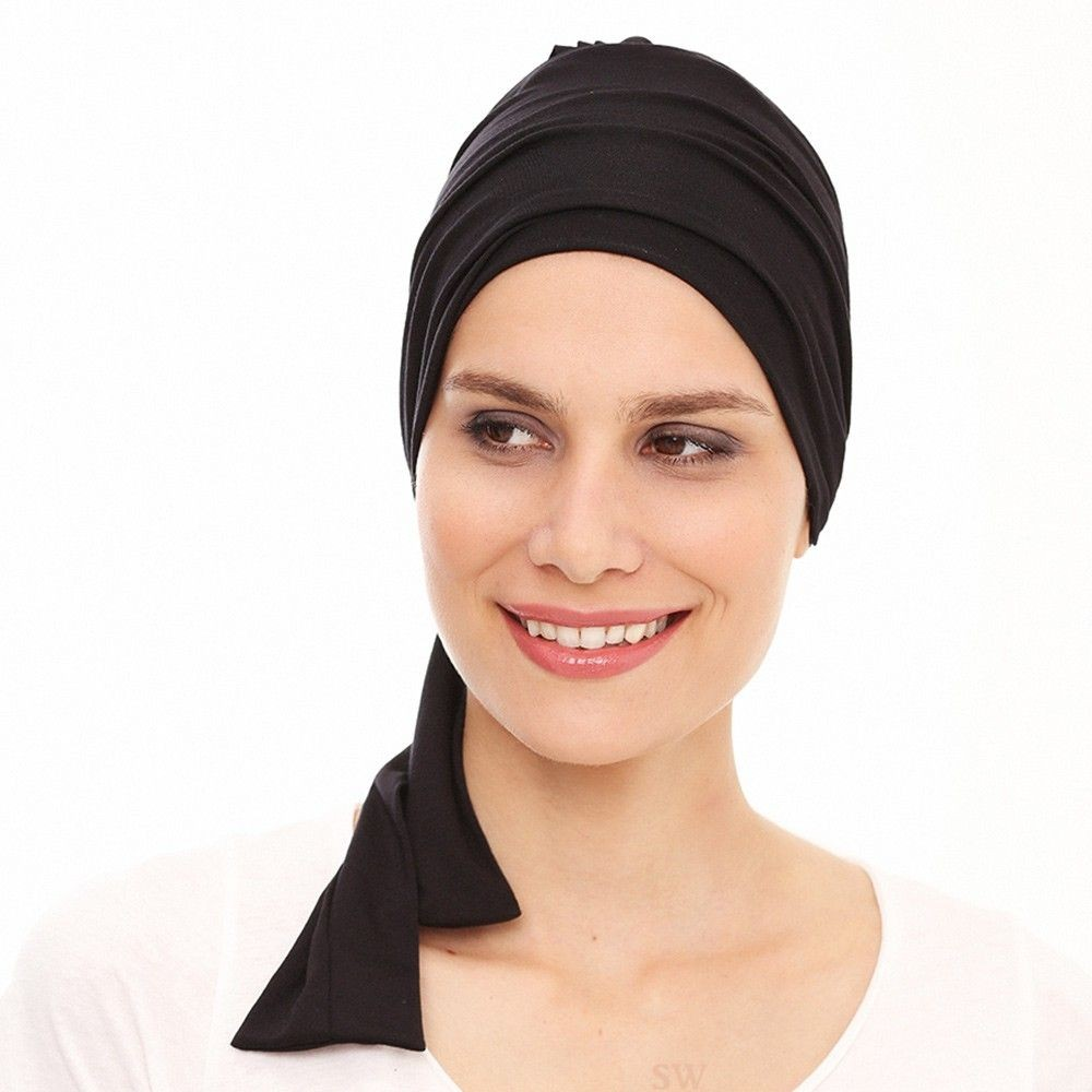 Ibiza Black Turban Scarf Gisela Mayer